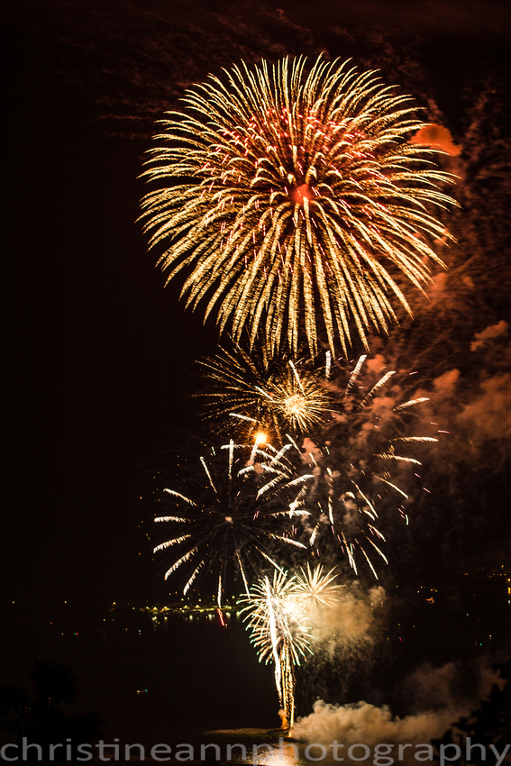 The Duluth MN Fireworks Display July 4, 2015.
