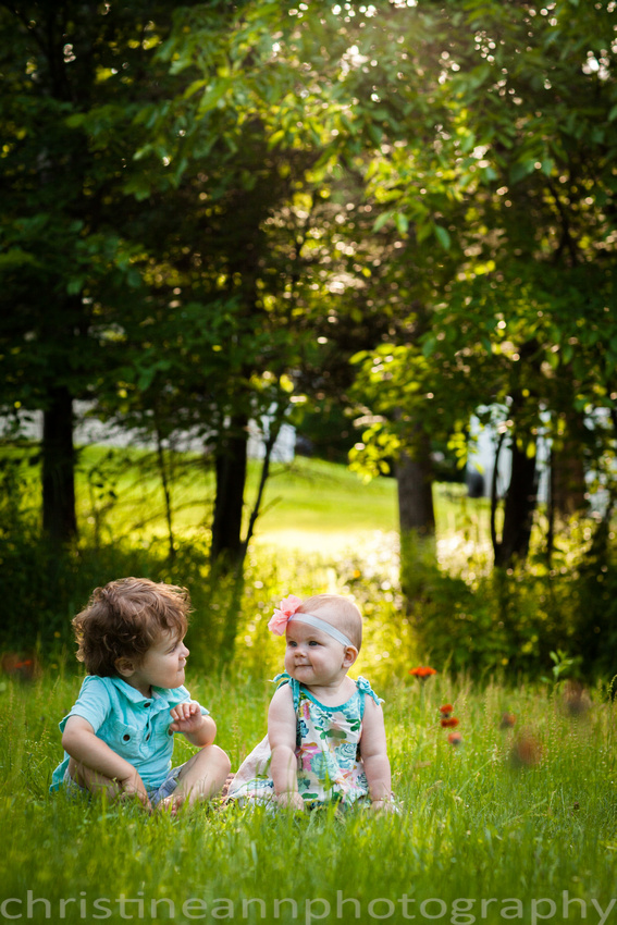 Children and Family Portrait Photography During Golden Hour in Duluth MN.