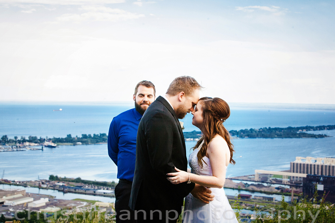Wedding at Enger Tower Overlook in Duluth Minnesota