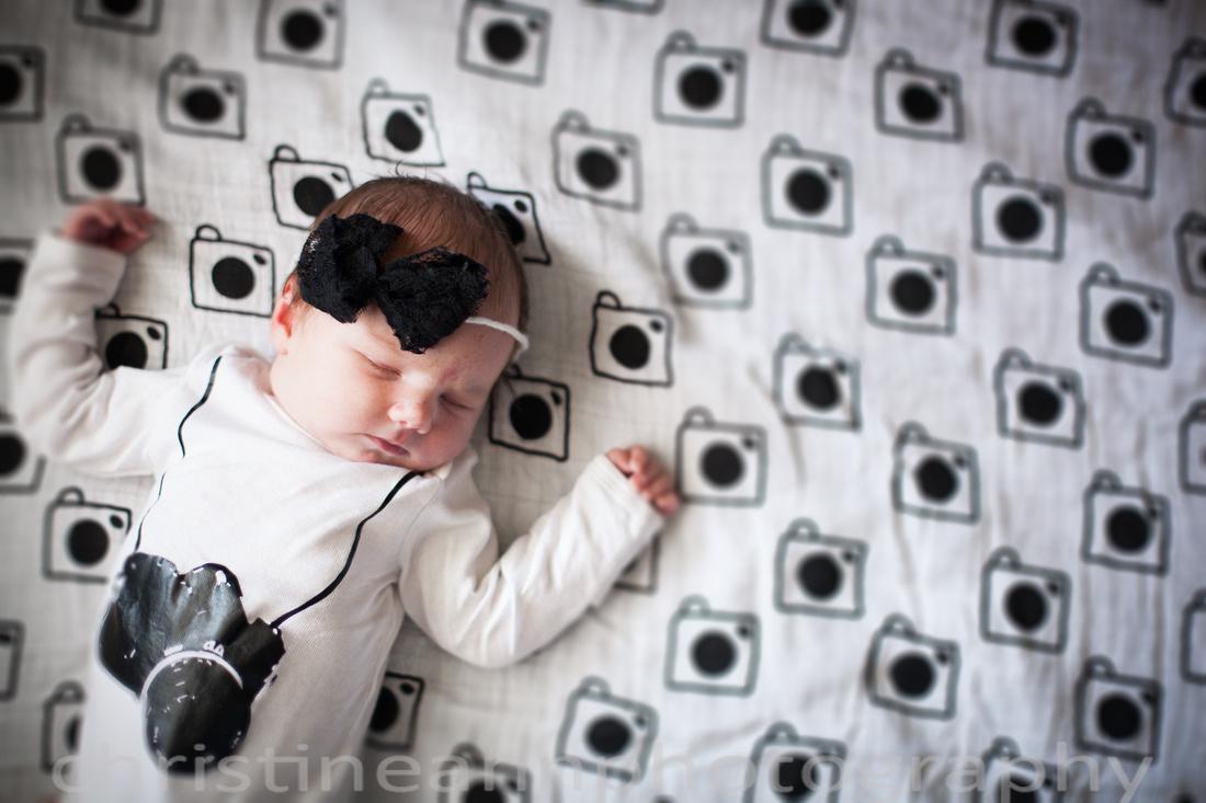 Newborn photography modern Burlap camera blanket