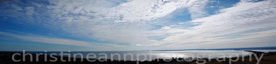 Duluth MN North Shore panoramic.. shows the largest freshwater sandbar in the world on Lake Superior!