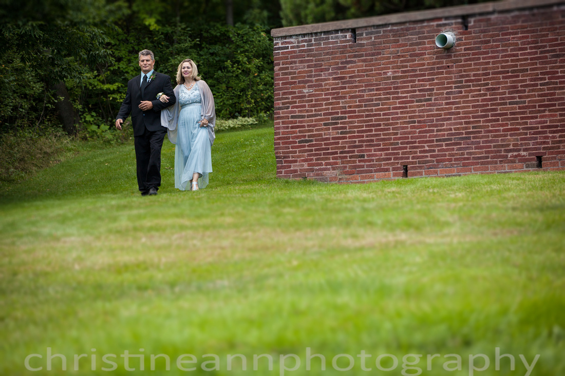 Wedding ceremony at Duluth MN Woman's Club